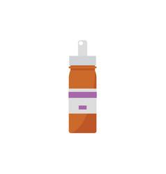 nose spray bottle or liquid medicine container vector image