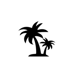 Palm tropical tree icon vector