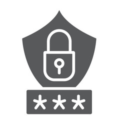 password protection glyph icon privacy and access vector image