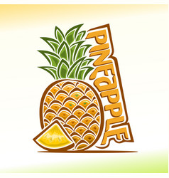 Pineapple still life vector