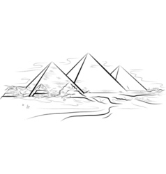 Piramids giza egypt vector