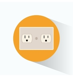 plug energy electrical circle shadow vector image
