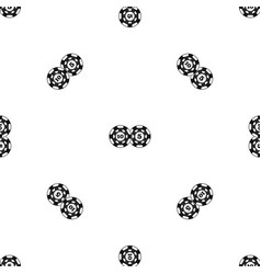 Poker chips nominal five and ten pattern seamless vector