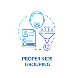 Preschoolers groups concept icon vector