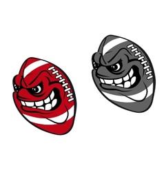 Rugby cartoon ball vector image