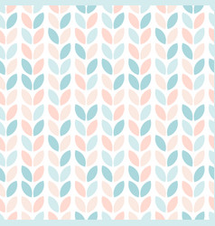 scandinavian style floral seamless pattern vector image