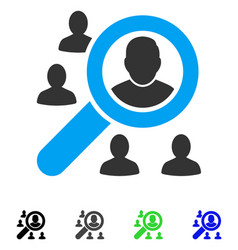Search users flat icon vector
