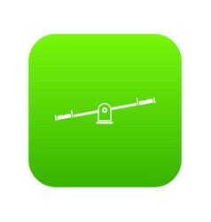 seesaw icon digital green vector image