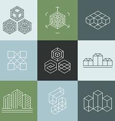 Set logo design templates vector