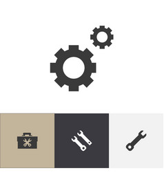 set of 4 editable mechanic icons includes symbols vector image