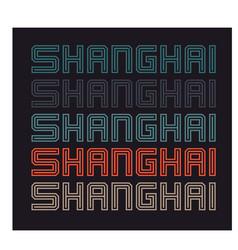 Shanghai t-shirt design vector