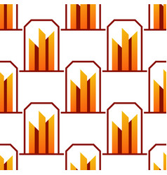 skyscrapers buildings seamless pattern tower vector image