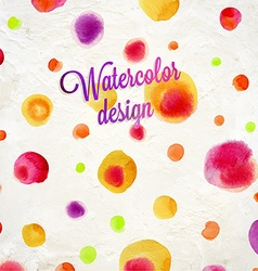 Spotted Watercolor Background vector image