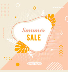 summer sale memphis banner concept advertising vector image