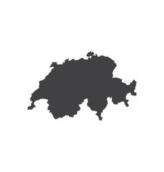 Switzerland map silhouette vector image