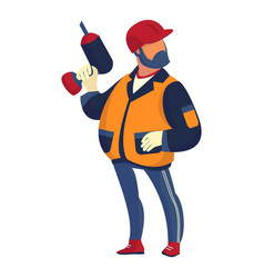 technician foreman icon cartoon style vector image