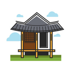 Traditional oriental building vector