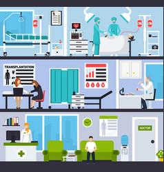 transplantation horizontal compositions vector image