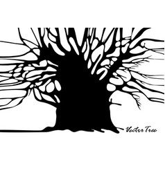 Tree silhouette without leaves vector