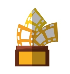 Trophy film awards shadow vector