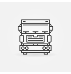 Truck icon or logo vector image