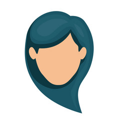 White background of faceless woman with dark blue vector