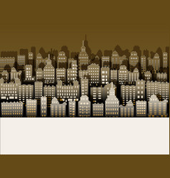 white black city paper nice background for urban vector image