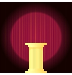 Yellow Marble Greek Column vector