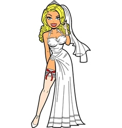 Bride With Garter vector image vector image