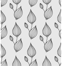 Floral background with stylized leaves vector image