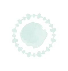 ornamental watercolor logo design vector image vector image