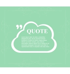 Quote sign icon Quotation mark in speech bubble vector image