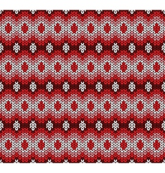 red knitted pattern vector image