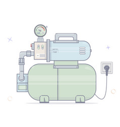 water pump for online store of plumbing cartoon vector image