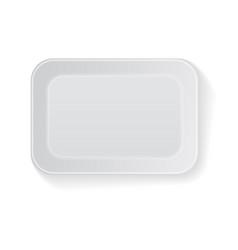 white rectangle blank styrofoam plastic vector image vector image
