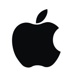 apple logo computer ipad iphone software vector image