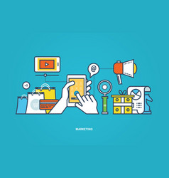 business marketing research tool for study vector image
