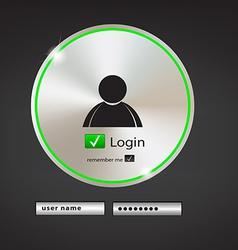 login button 2 vector image vector image