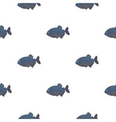 Piranha fish icon cartoon singe aquarium fish vector
