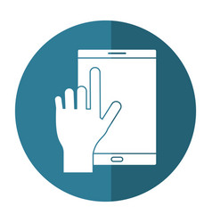 smartphone device mobile touch screen button vector image