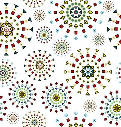 Abstract white background with stylized flowers vector image vector image