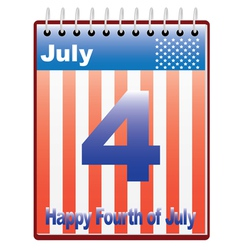 Fourth of July vector image vector image