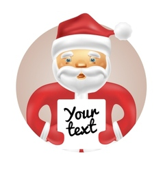 Santa with banner vector image