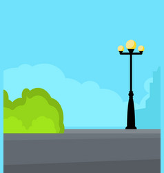 vintage streetlight on the street vector image vector image