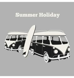 Vintage surf poster vector image vector image