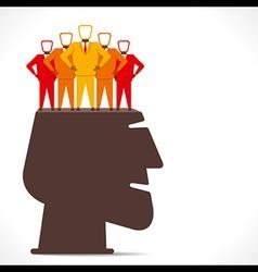 businessmen team in human head concept vector image vector image