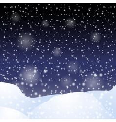 Falling snow against the dark night sky vector