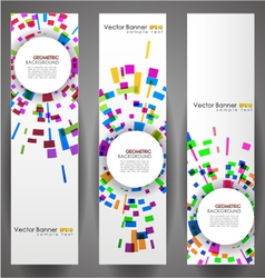 geometric circles banner set vector image vector image