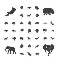 37 zoo icons vector