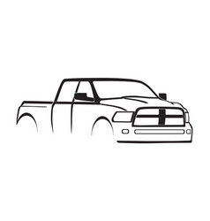 4th gen ram crew cab 3500 hd silhouette vector